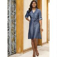 Denim Tencel Shirt Dress by Studio EY