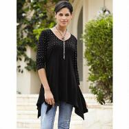 Studded Knit Tunic by Essentials by Milano