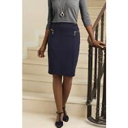 Zip Knit Pencil Skirt by Sioni