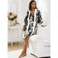 Silky Chemise and Robe Set by Studio EY