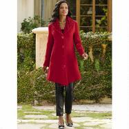 Textured-Trim Coat by Luxe EY