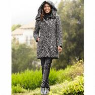 Hooded Bouclé 3/4 Coat by Studio EY
