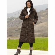 Hooded Long Puffer Coat by Studio EY