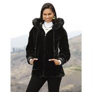 Reversible Faux Leather and Fur Jacket by Studio EY