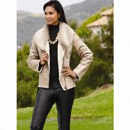 Faux-Shearling Jacket by Luxe EY