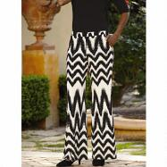 Chevron Print Jersey Palazzo Pants by Studio EY