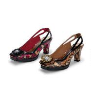 Leopardess Peep-toe Slingbacks by EY Couture