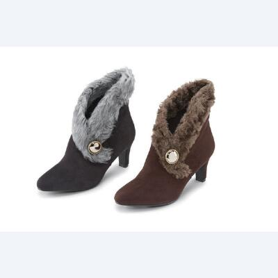 Pre-furred Booties by EY Couture