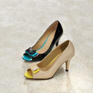 Bow Peep-toe Pumps by EY Couture
