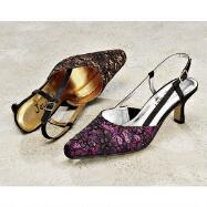 Glitter Lace Slingbacks by JEWELS