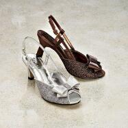 Satin Bow Slingbacks by JEWELS