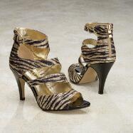 Glam Zebra Sandals by JEWELS