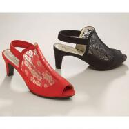Lacey Peep-Toe Slingbacks by EY Boutique