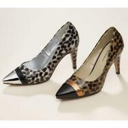 Textured Leopard Pumps by EY Boutique