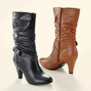 Studded Calf-Length Boots by EY Boutique