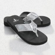 Sparkly Platform Thongs by Corkys