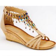 Jeweled Gladiator Sandals by Amanda Sandals