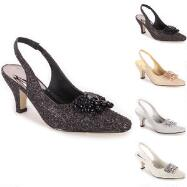 Opulent Shine Slingbacks by EY Boutique