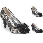 Ace of Lace Peep-Toe Pumps by EY Boutique