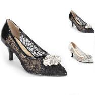 Jeweled Lace Pumps by EY Boutique