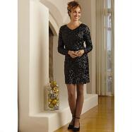 All-Over Sequin Mini Dress by EY Boutique