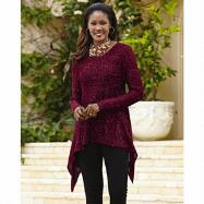 Sparkly Tunic Sweater by John Fashion