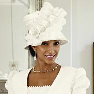 Gardenia Church Hat by Luxe EY