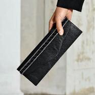 Rhinestone Rows Handbag by Lisa Rene