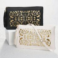 Laser-Cut Clutch by EY Boutique