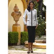 Piper Collarless Jacket & Skirt Suit by EY Signature