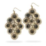 Black Bead Earrings