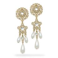 Faux Pearl Chandelier Earrings