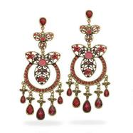 Crimson Crush Chandelier Earrings