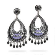 Black Crystal Earrings