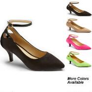 Color Closeout Lady Luxe Ankle Straps by EY Boutique