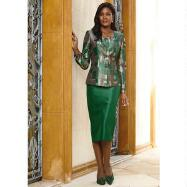 Tuscan Tiles Print Suit by Tally Taylor