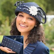Scintillating Cynthia Hat and Handbag Set by BMJ