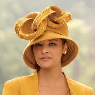 Pleats of Paula Hat by Champagne Italy