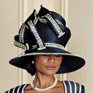 Luxury Lines Hat by Verucci by Chancelle