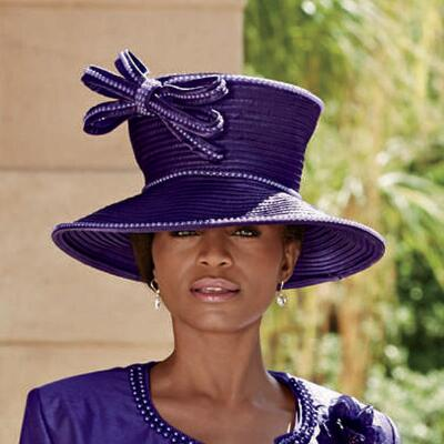 Queen of Sheen Hat by EY Signature