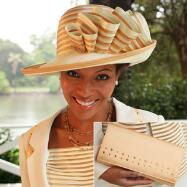 Shimmering Sheila Hat and Handbag Set by BMJ