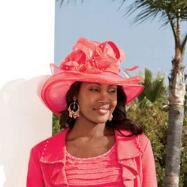 Rufflette Hat by Milano Couture