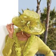 Feminique Ruffled Hat by Milano Couture