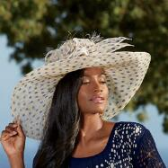 Polka-dot Hat by Scala Collezione