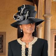 Profile in Elegance Hat from Verucci by Chancelle