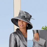 Touch of Lace Hat and Handbag Set by BMJ Studio