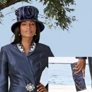 Luxe Luster Hat and Handbag Set by BMJ Studio