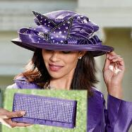 Opulent Ribbon Hat and Handbag Set by BMJ Studio