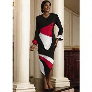 Tri-Tone 2-Pc. Suit by Lisa Rene