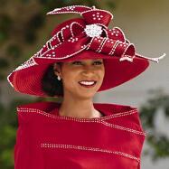 Rhinestone Rows Church Hat by Lisa Rene
